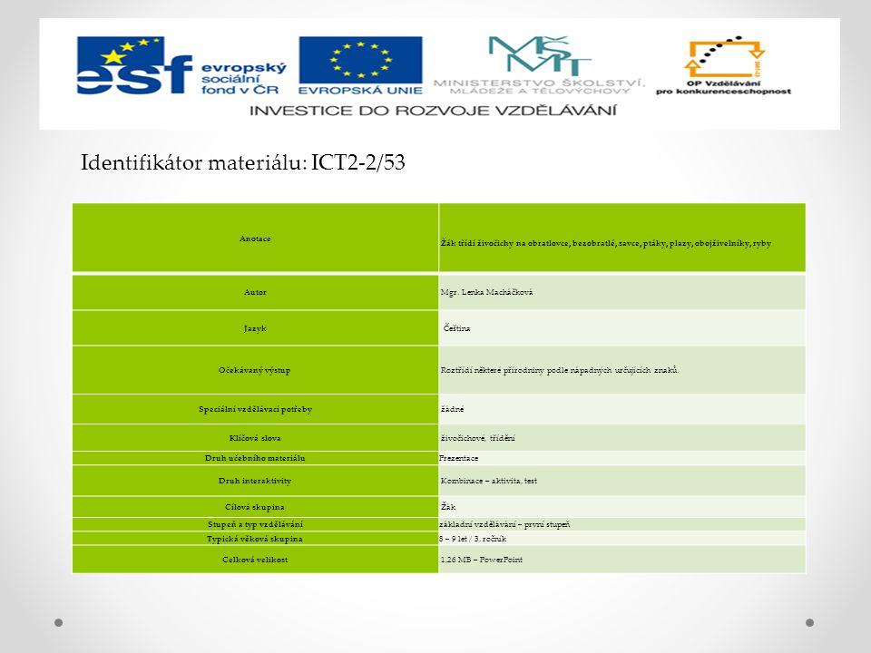Identifikátor materiálu: ICT2-2/53