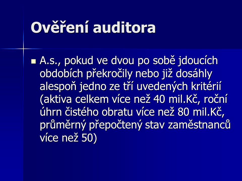 Ověření auditora