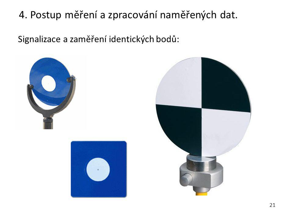 4. Postup měření a zpracování naměřených dat.