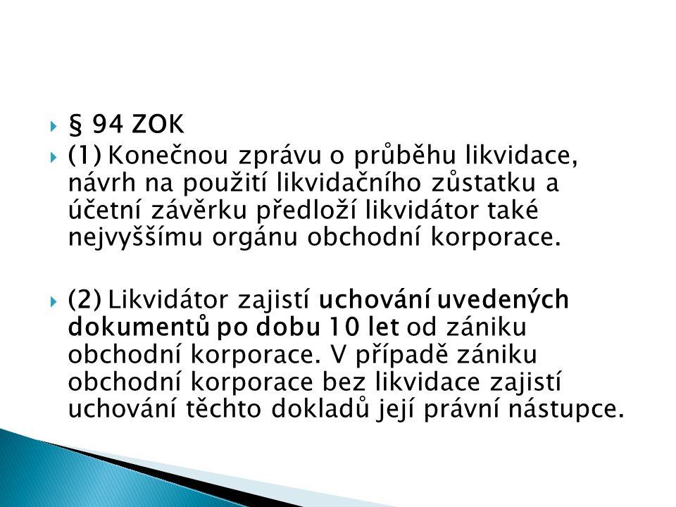 § 94 ZOK