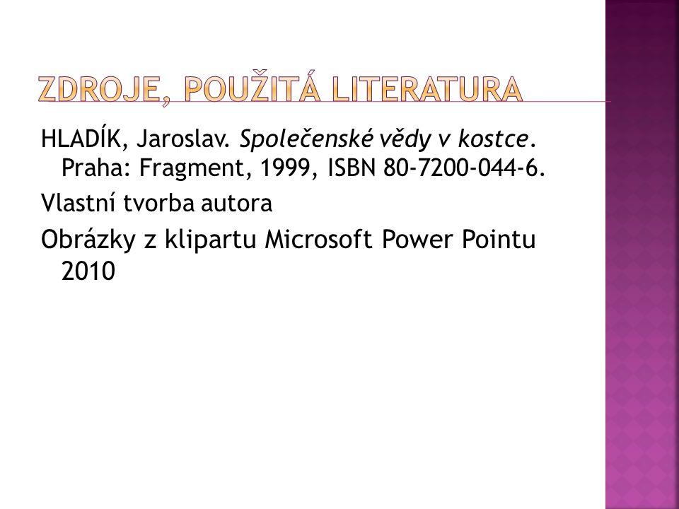 Zdroje, použitá literatura