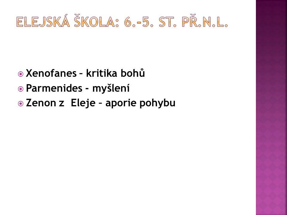 Elejská škola: 6.-5. st. př.n.l.