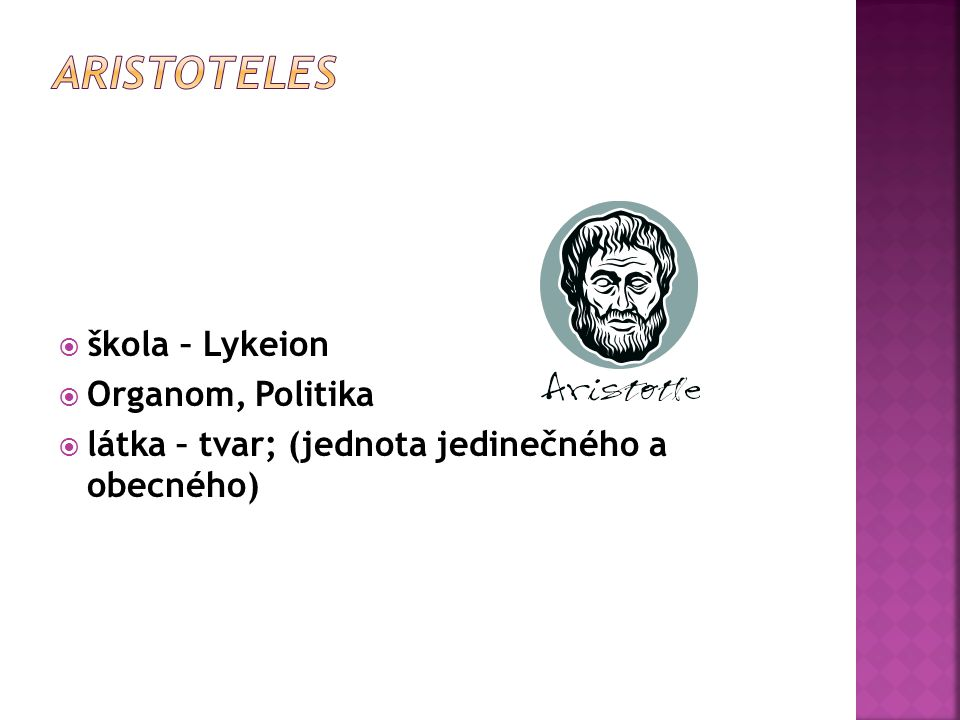 Aristoteles škola – Lykeion Organom, Politika