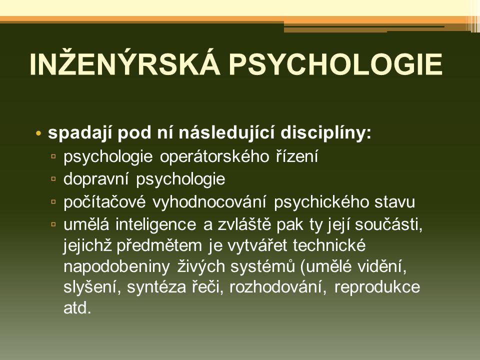 INŽENÝRSKÁ PSYCHOLOGIE