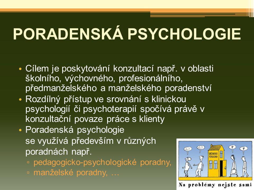 PORADENSKÁ PSYCHOLOGIE