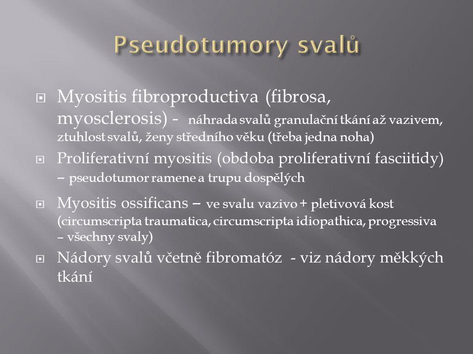 Pseudotumory svalů