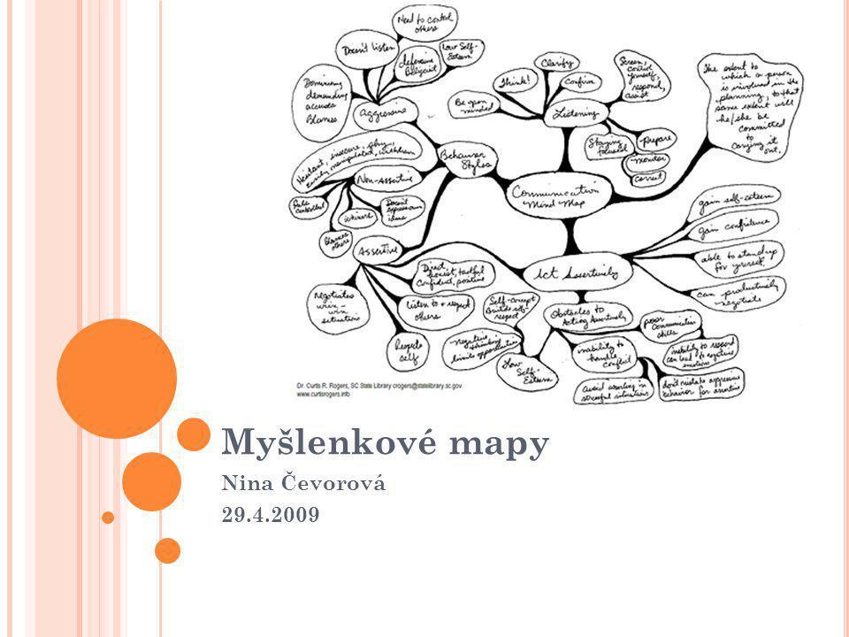 Myšlenkové mapy Nina Čevorová 29.4.2009