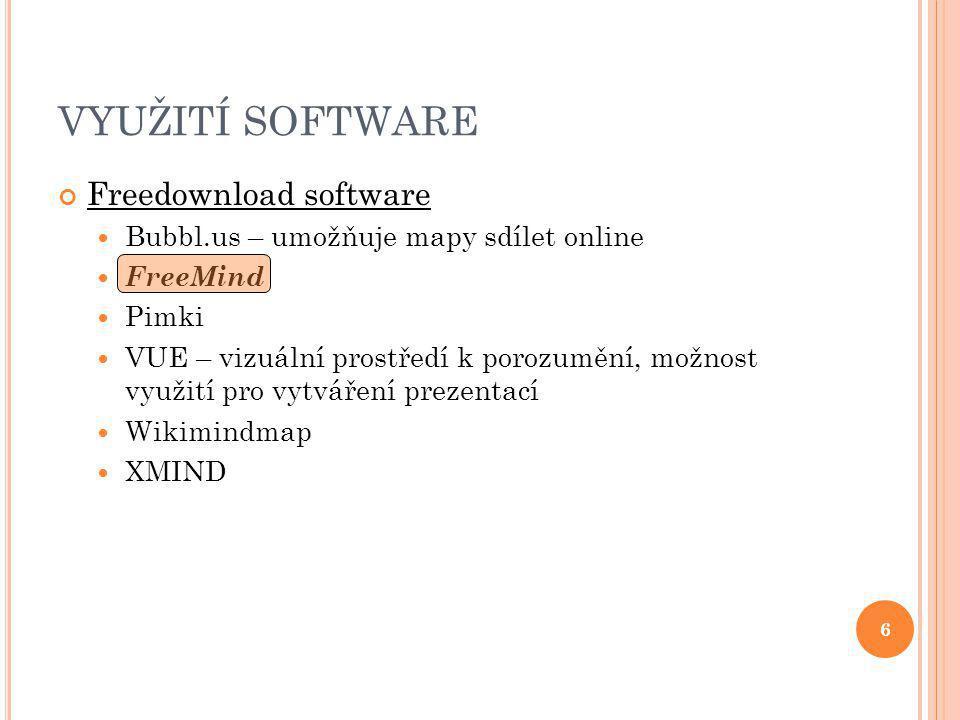 VYUŽITÍ SOFTWARE Freedownload software