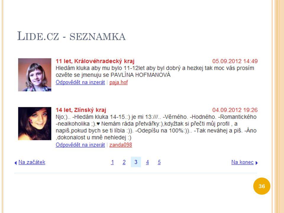 Lide.cz - seznamka