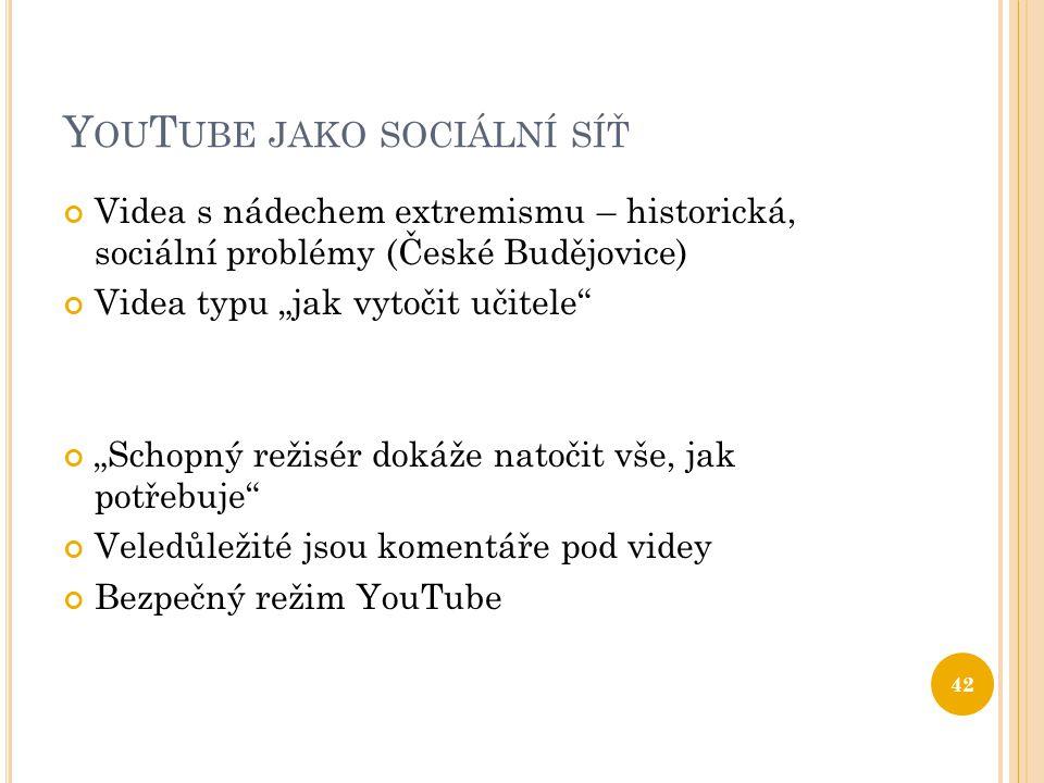 YouTube jako sociální síť