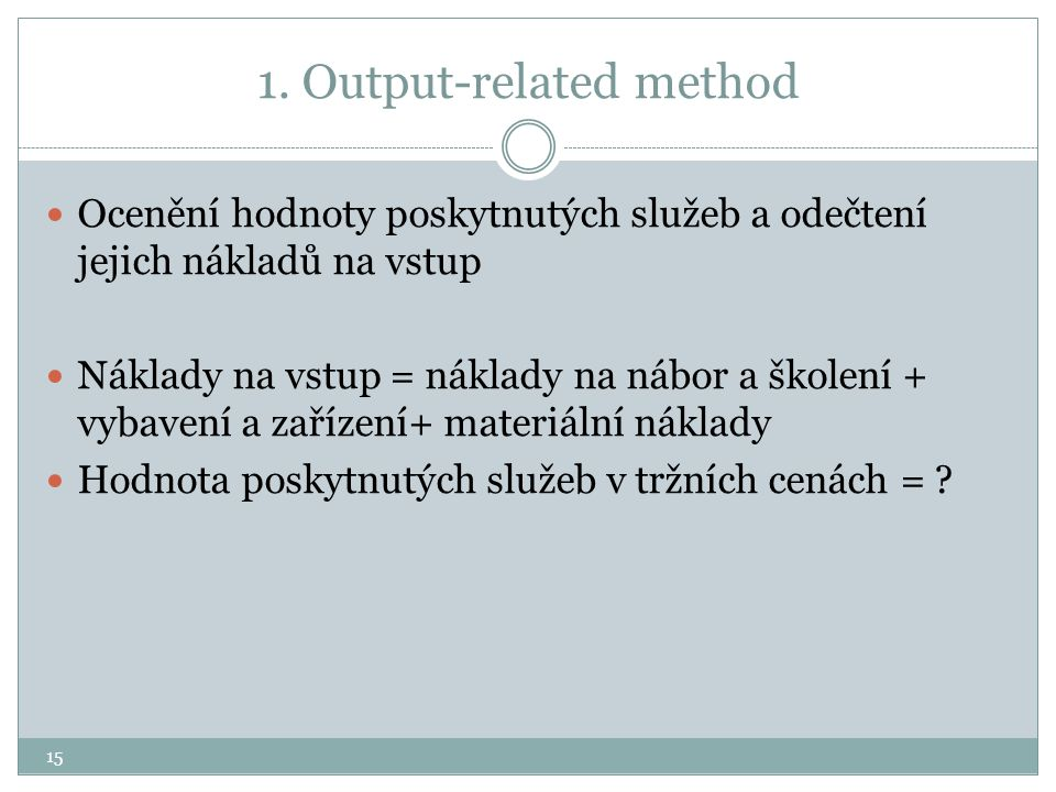 1. Output-related method