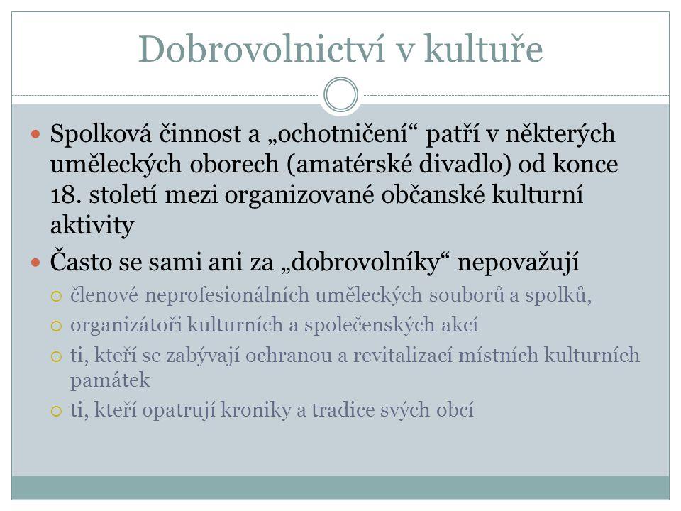 Dobrovolnictví v kultuře