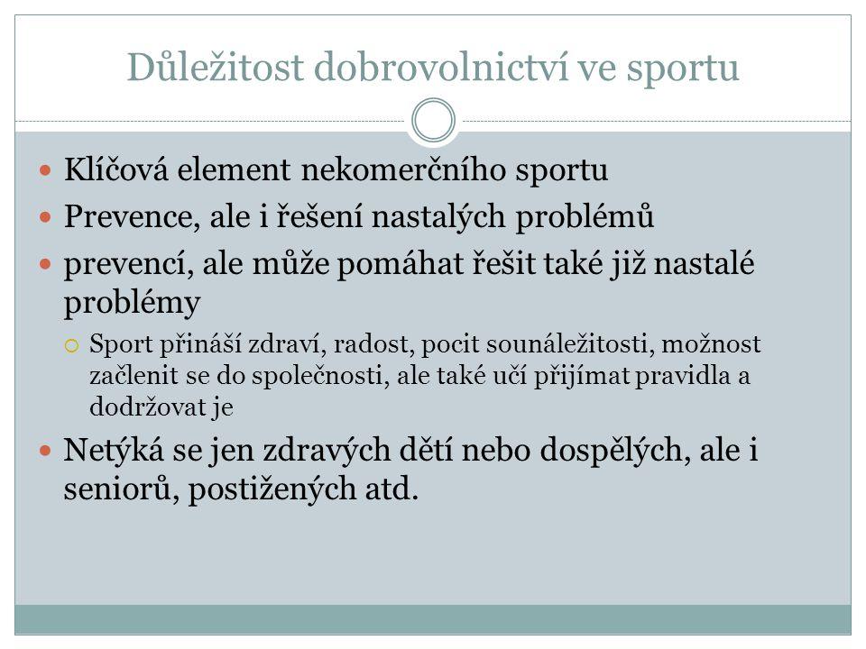 Důležitost dobrovolnictví ve sportu