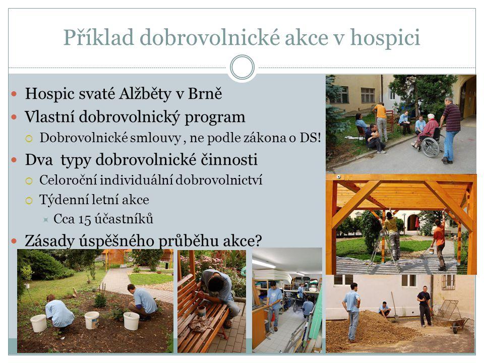 Příklad dobrovolnické akce v hospici