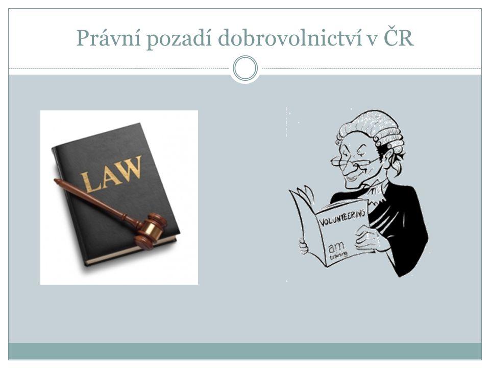 Právní pozadí dobrovolnictví v ČR