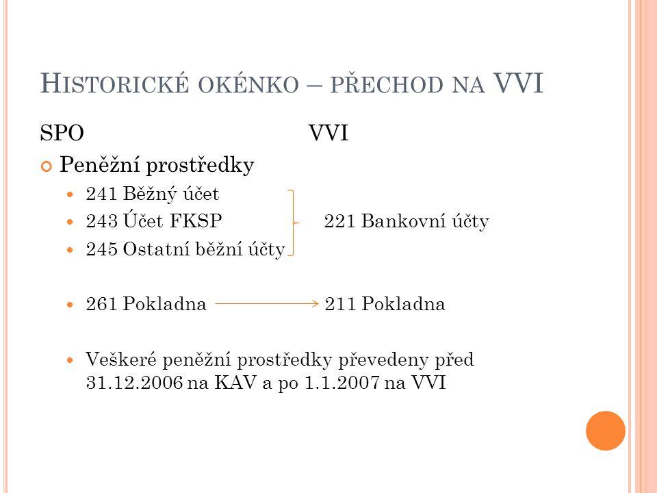 Historické okénko – přechod na VVI