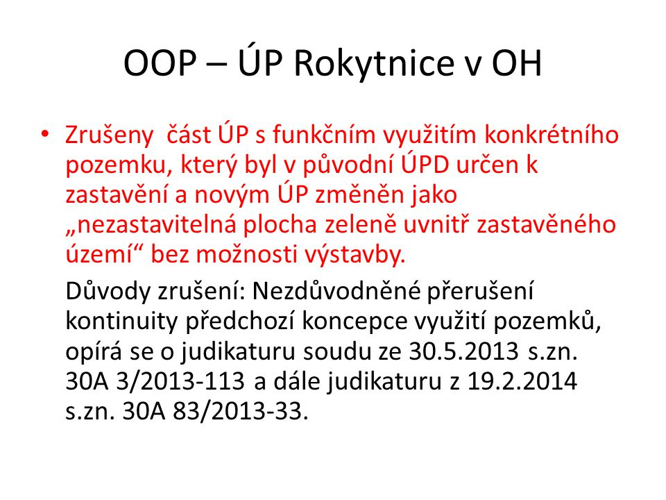 OOP – ÚP Rokytnice v OH