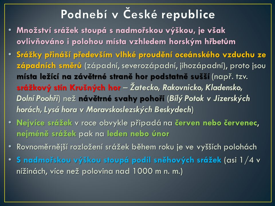 Podnebí v České republice