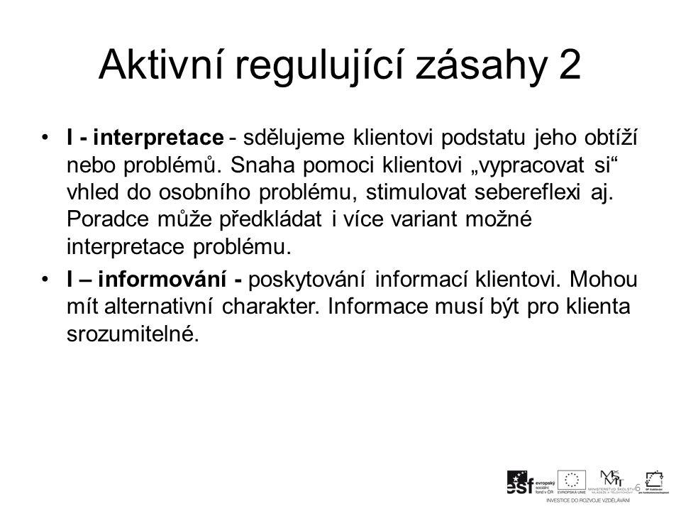 Aktivní regulující zásahy 2