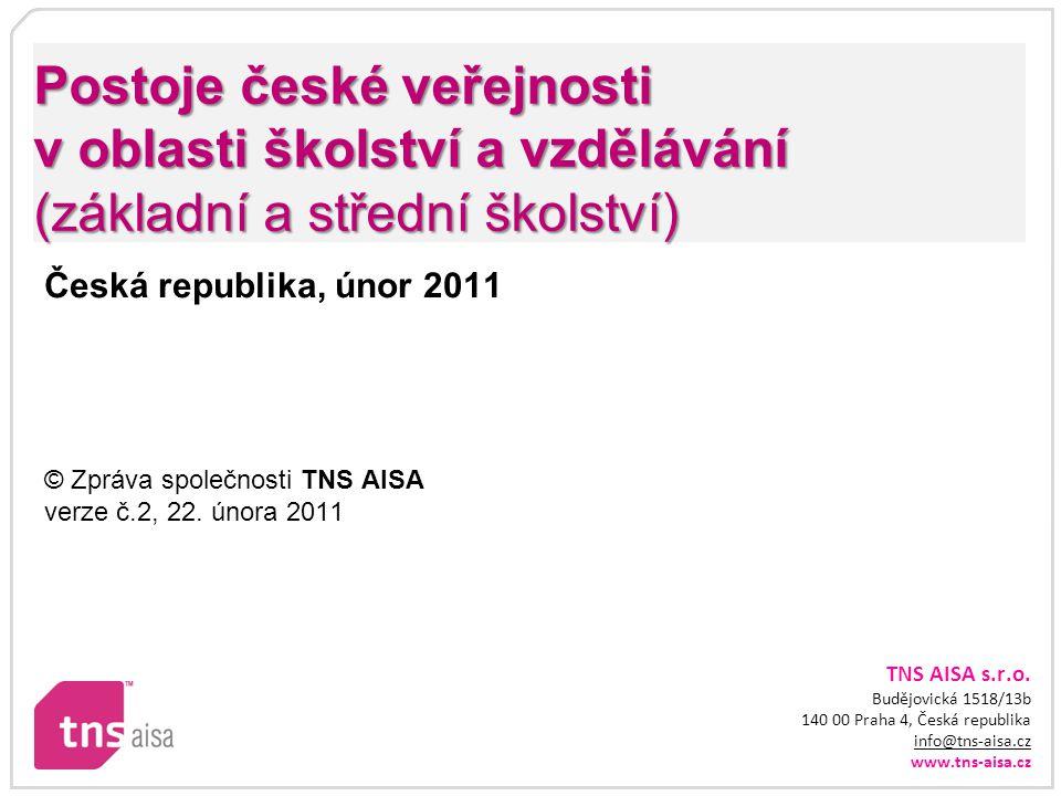 Postoje české veřejnosti v oblasti školství a vzdělávání (základní a střední školství)