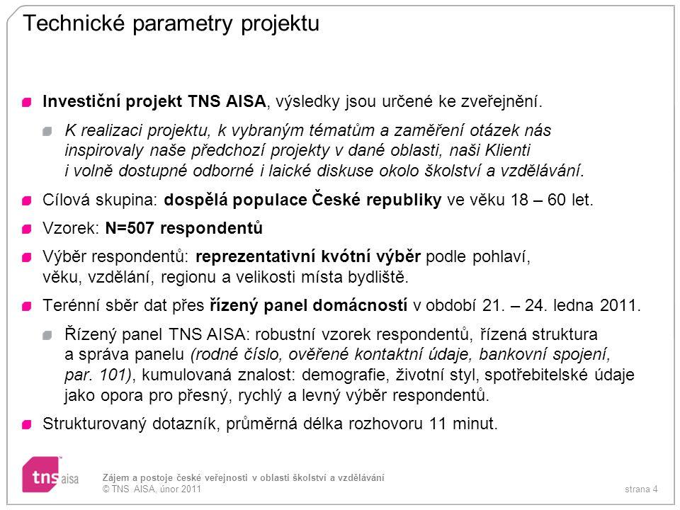 Technické parametry projektu