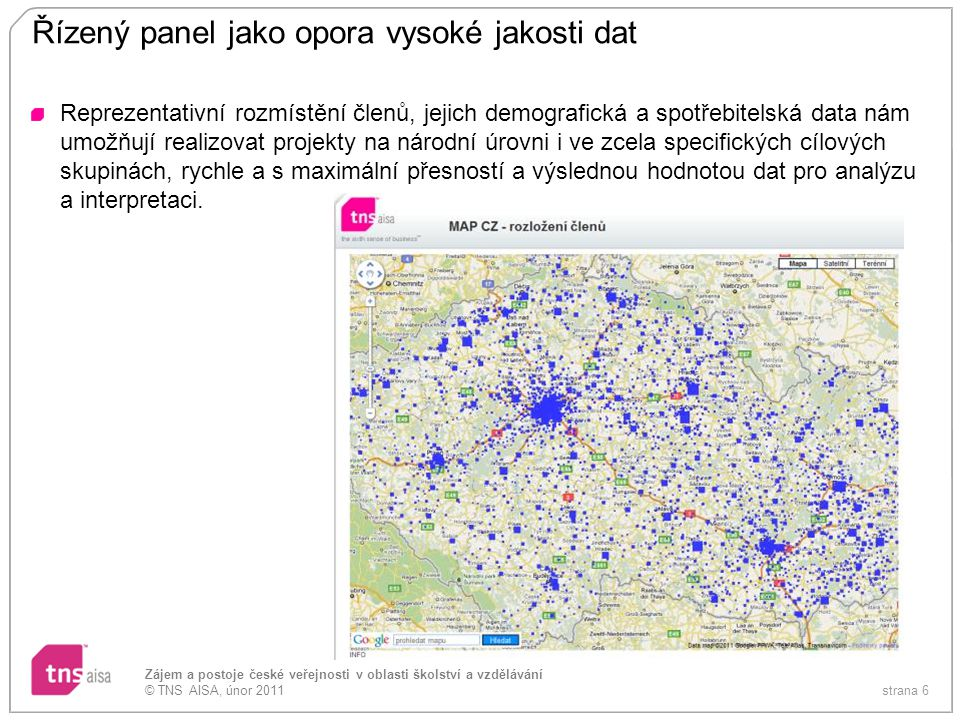 Řízený panel jako opora vysoké jakosti dat