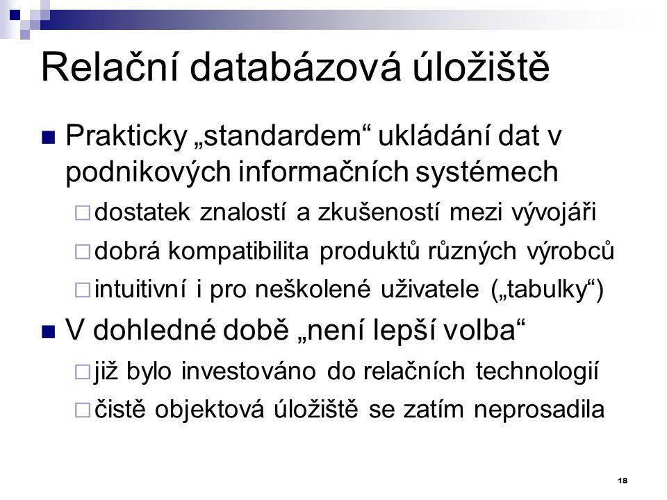Relační databázová úložiště
