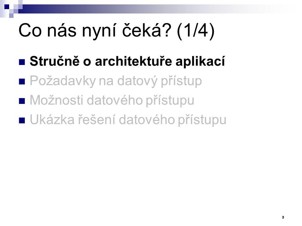 Co nás nyní čeká (1/4) Stručně o architektuře aplikací