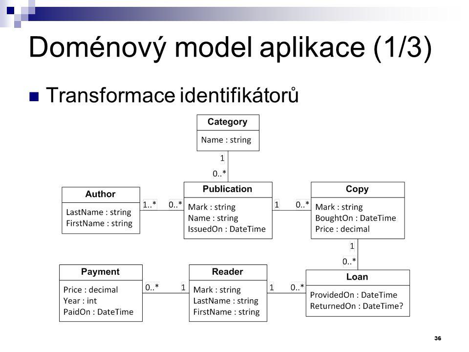 Doménový model aplikace (1/3)