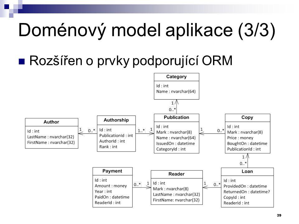 Doménový model aplikace (3/3)