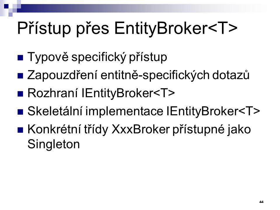 Přístup přes EntityBroker<T>