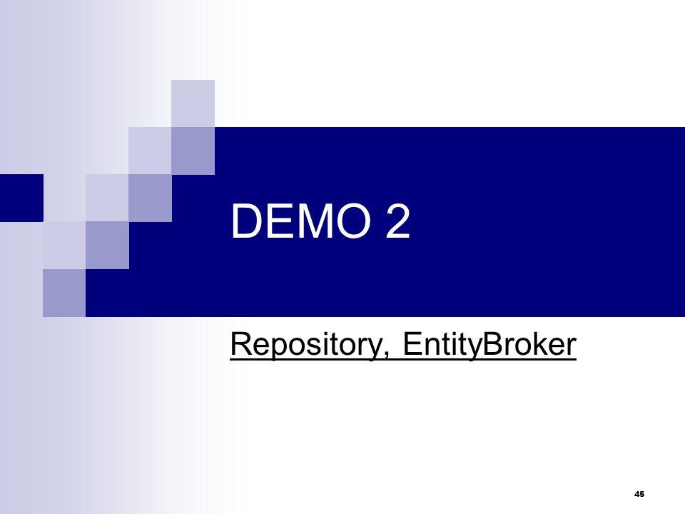 Repository, EntityBroker