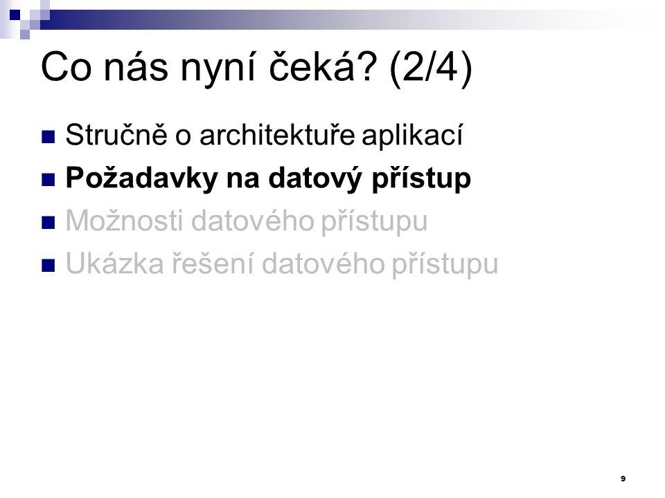 Co nás nyní čeká (2/4) Stručně o architektuře aplikací