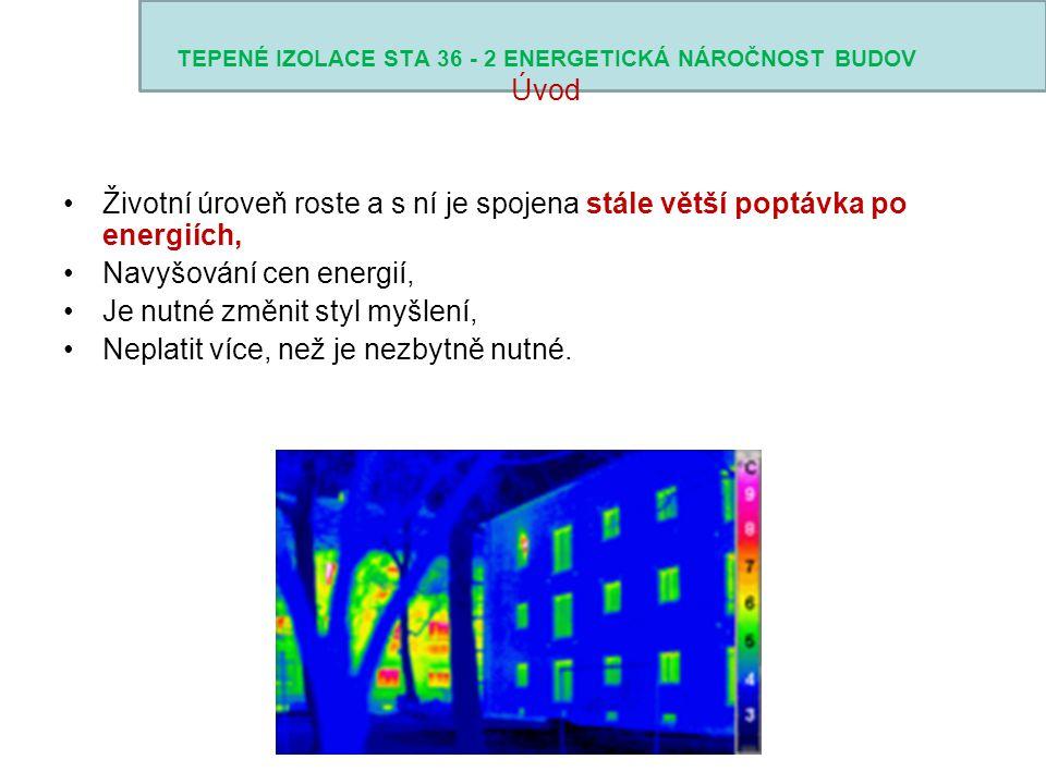 TEPENÉ IZOLACE STA 36 - 2 ENERGETICKÁ NÁROČNOST BUDOV Úvod