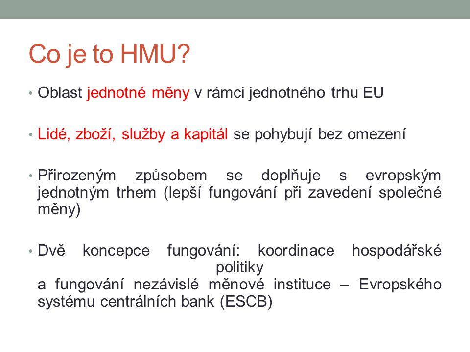 Co je to HMU Oblast jednotné měny v rámci jednotného trhu EU