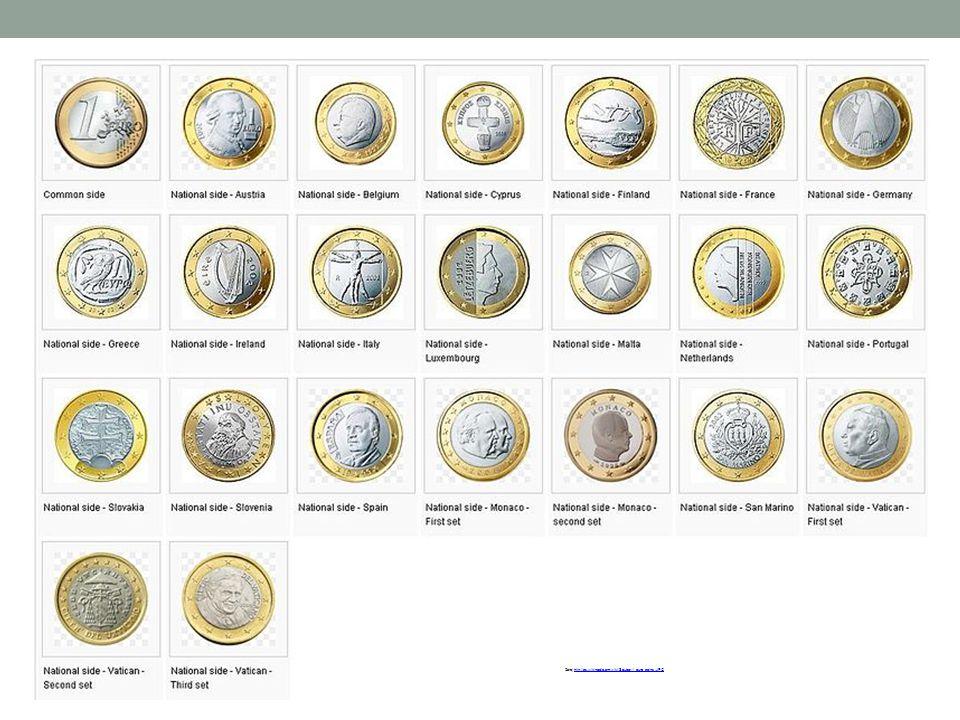 Zdroj:http://cs.wikipedia.org/wiki/Soubor:1_euro_coins.JPG