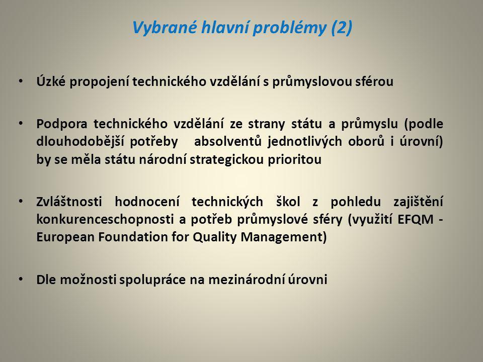 Vybrané hlavní problémy (2)