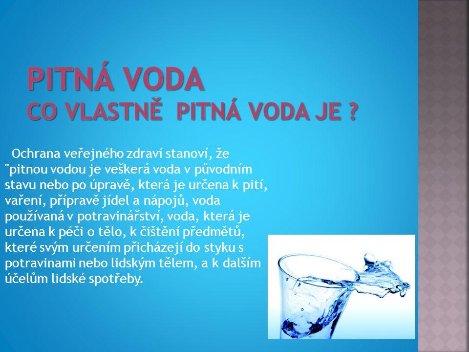 Pitná voda Co vlastně pitná voda je