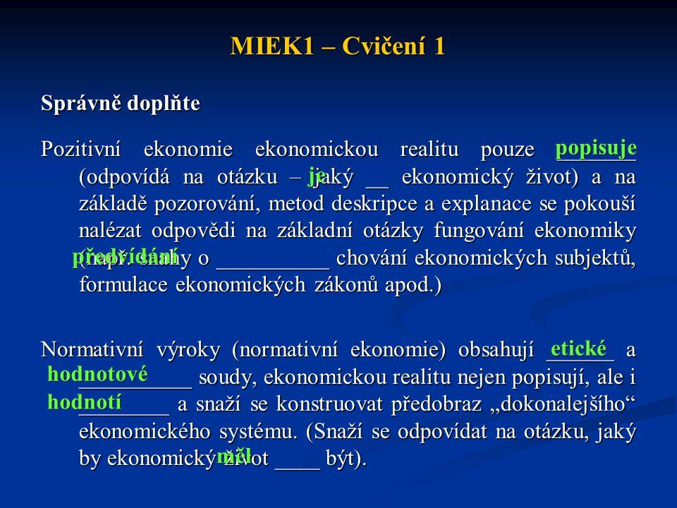 MIEK1 – Cvičení 1