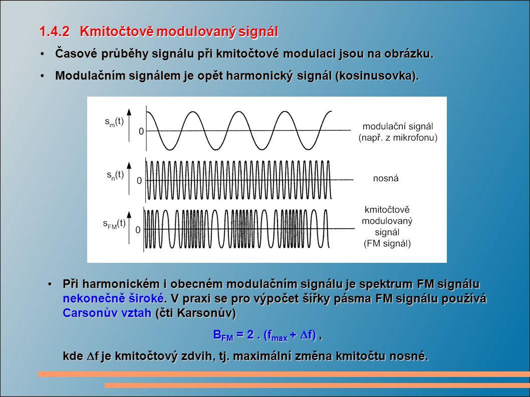 1.4.2 Kmitočtově modulovaný signál