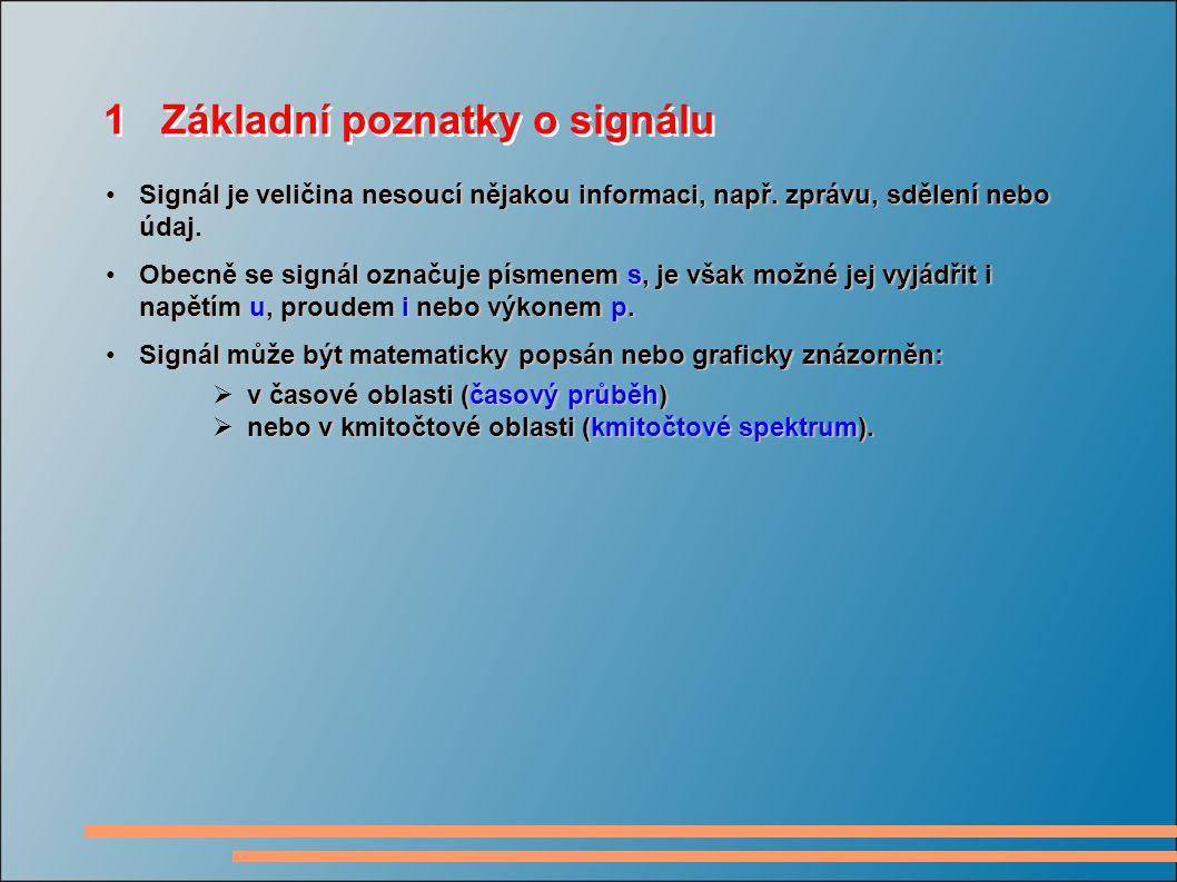 1 Základní poznatky o signálu