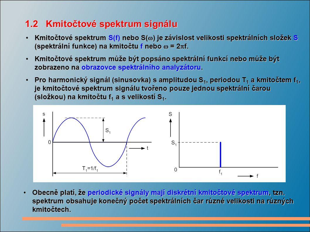1.2 Kmitočtové spektrum signálu