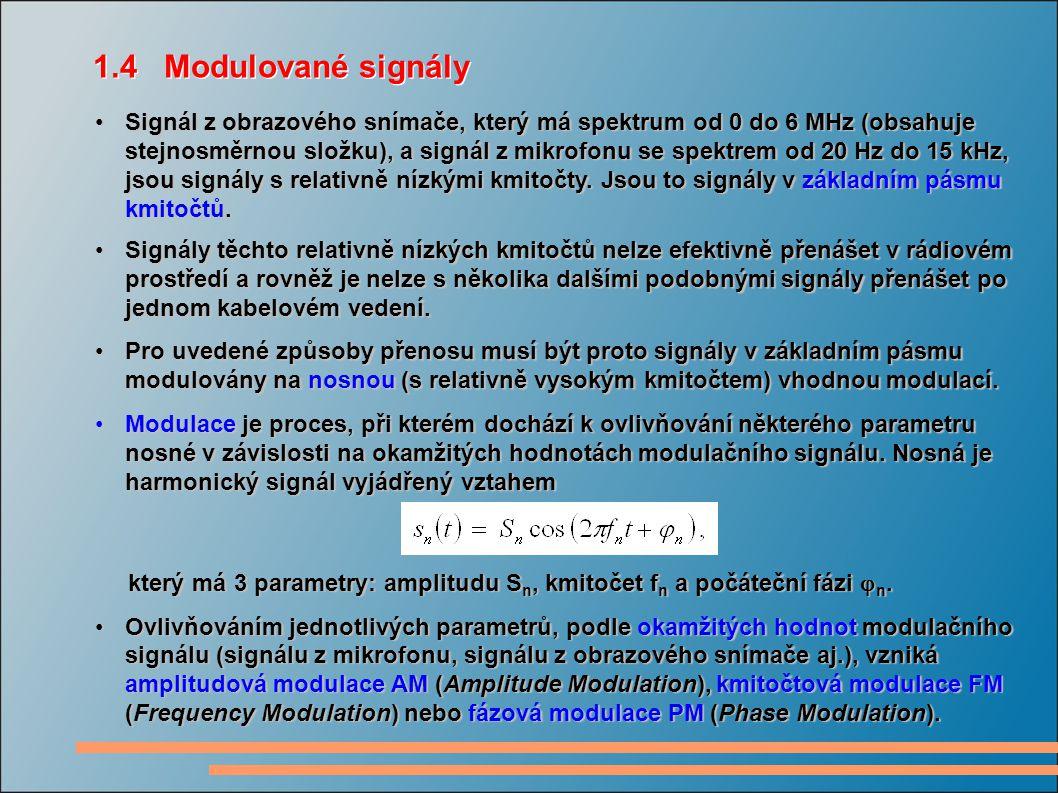 1.4 Modulované signály