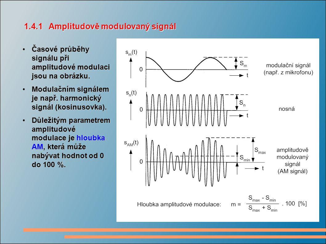 1.4.1 Amplitudově modulovaný signál