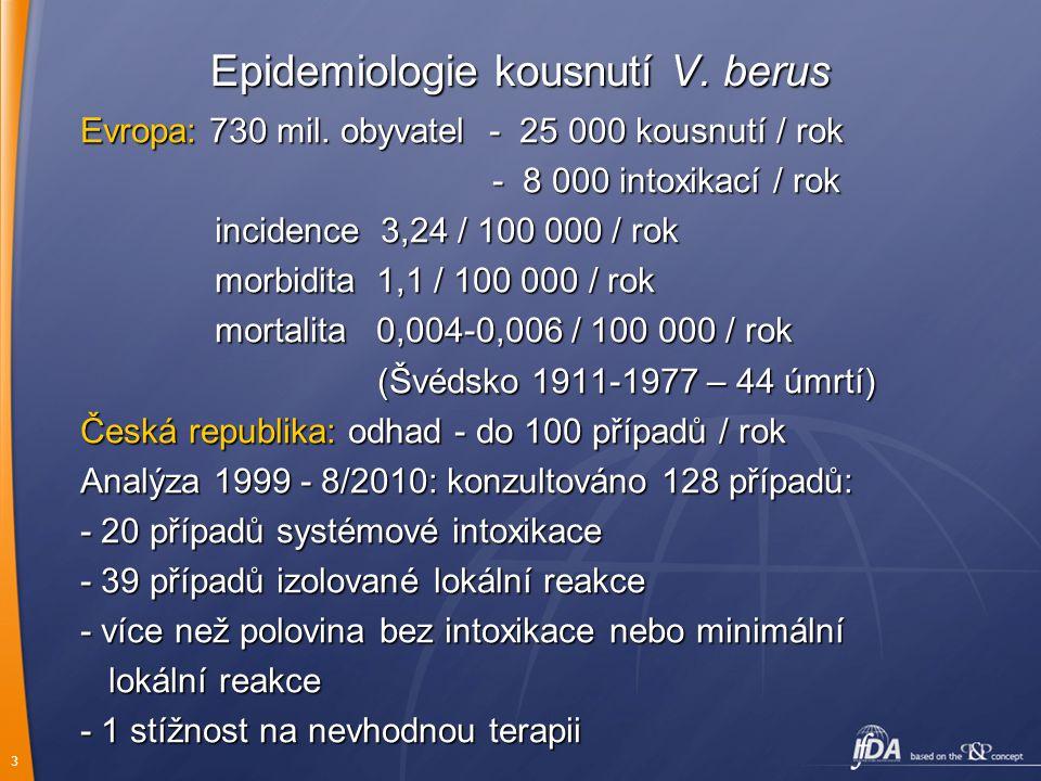 Epidemiologie kousnutí V. berus