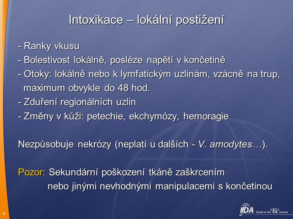Intoxikace – lokální postižení