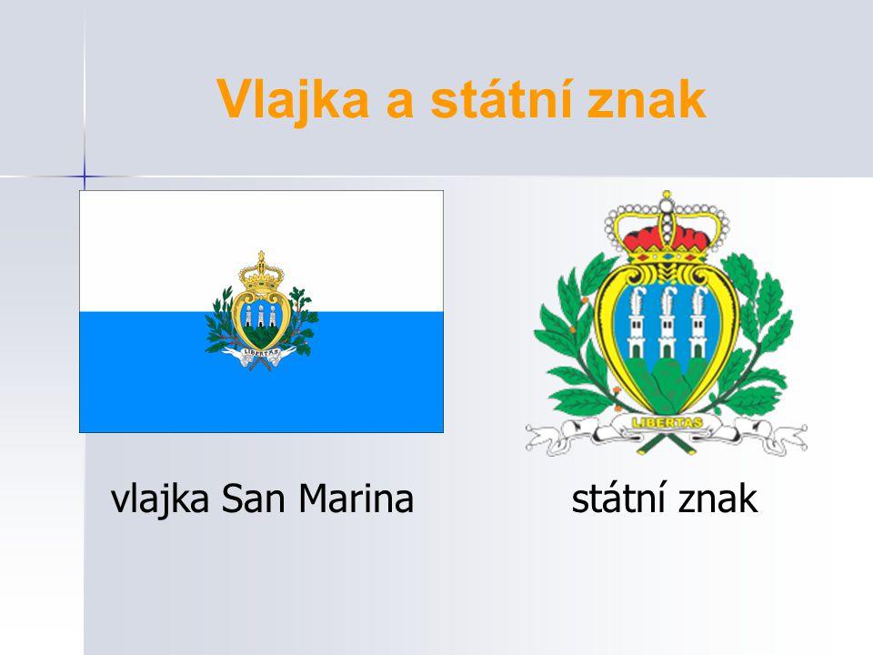 Vlajka a státní znak vlajka San Marina státní znak