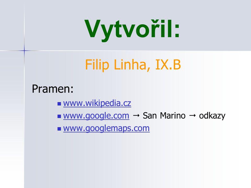 Vytvořil: Filip Linha, IX.B Pramen: www.wikipedia.cz