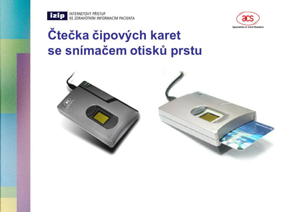 Čtečka čipových karet se snímačem otisků prstu