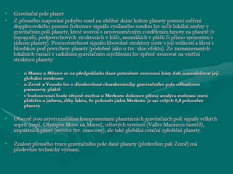 Gravitační pole planet